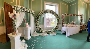 Our arches at Suffolk Wedding Show