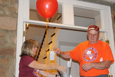 Debbie and Gray raffle a bingo winner