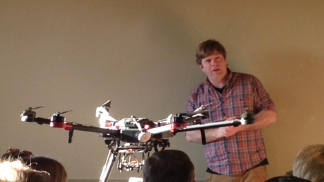 Dr. David Goldsmith and his drone