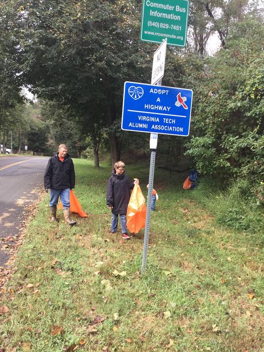 Fauquier Hokies Clean Up 2018