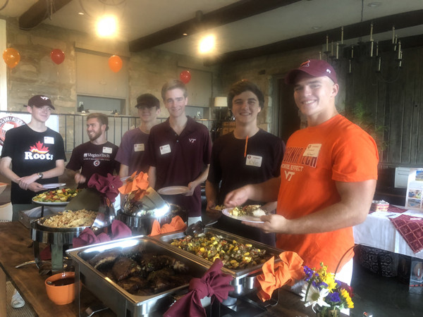 VT Students Enjoy the Buffet