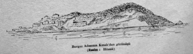 Burgaz Adasının Kınalı'dan görünüşü (Resim:Hüsnü)