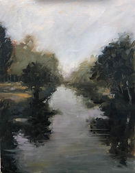 FOGGY MORNING RIVERBEND 14x11 Oil on Panel $950.jpeg