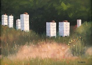 BEE'S COMING HOME 12x16 Oil on Panel $1200.jpg