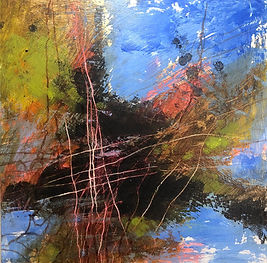 for web REFLECTIONS  #4 ACRYLIC 12%22X12