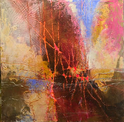 for web REFLECTIONS  #5 ACRYLIC 12%22X12
