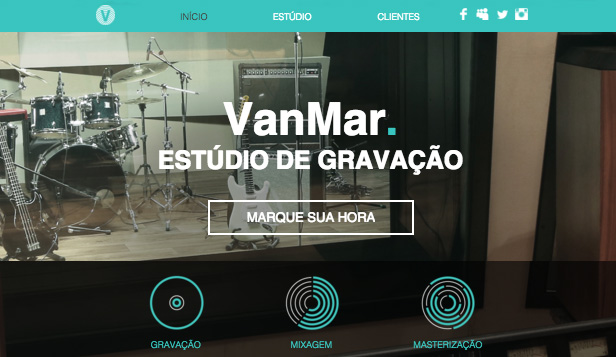 Música website templates – Estúdio de Música