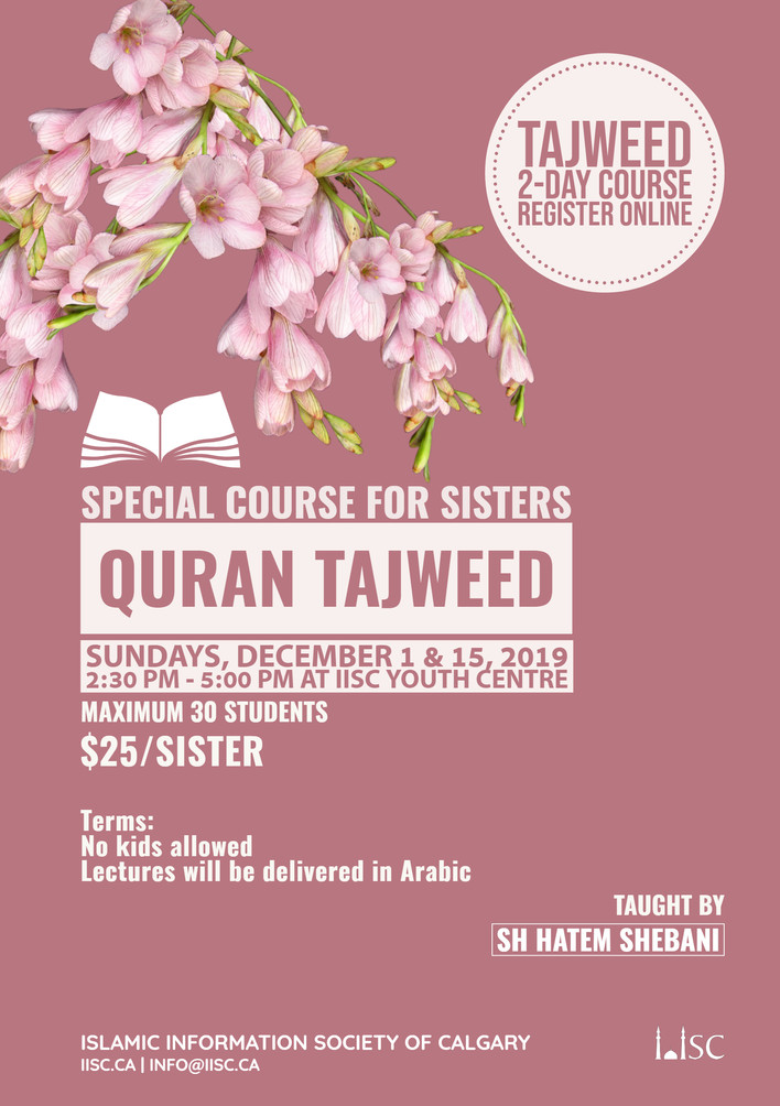 Quran Tajweed for Sisters (2-Days course)