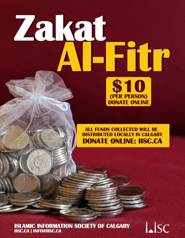 Zakat-ul-Fitr ($10/person)