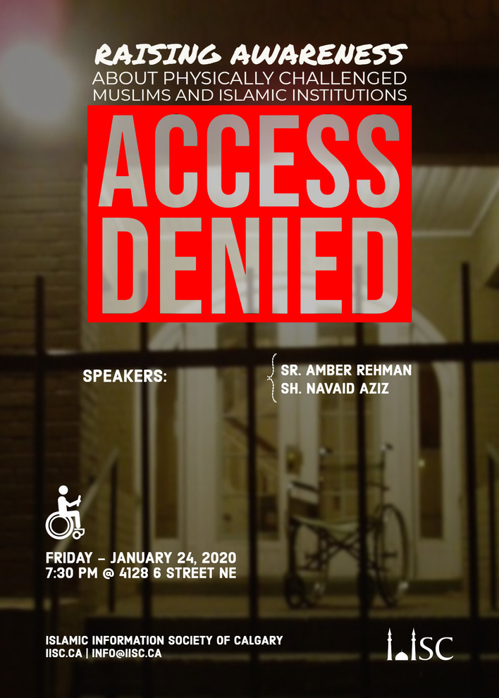 Access Denied - Raising awareness about physically challenged Muslims and Islamic Institutions