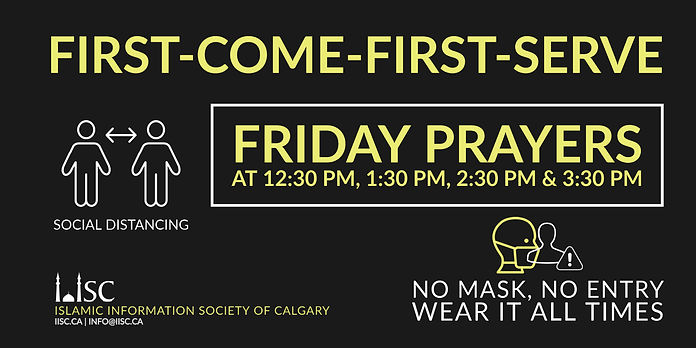 2020-09-19 Friday Prayers - First-come,