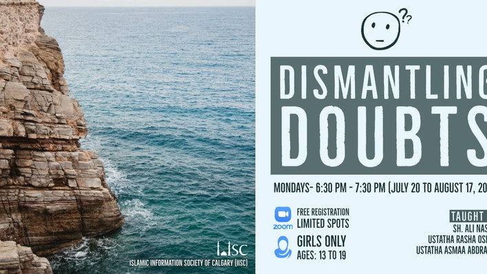 Dismantling Doubts (girls only - ages 13 to 19)