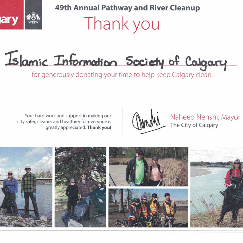 CertificatecPathway and River Cleanup