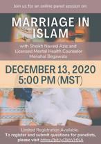 Marriage Panel Event with Sh. Navaid Aziz and Sr. Menahal Begawala