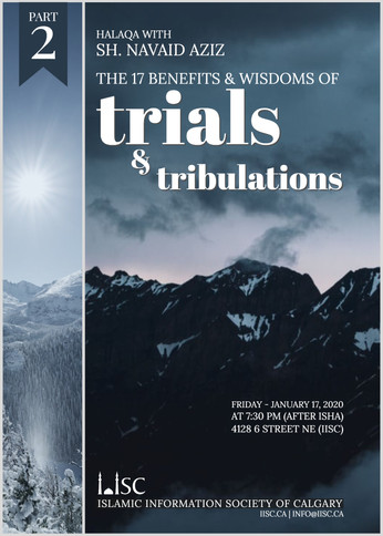 Benefits and Wisdom of Trials and tribulations
