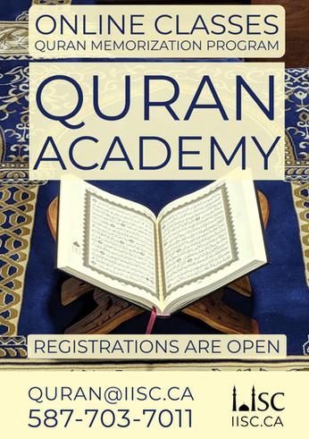 IISC Online Quran Program - Registrations are Open