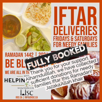 Thank you for your support for needy families Iftar this Ramadan!