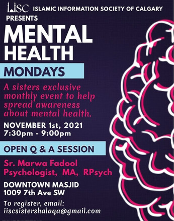 Mental Health - A sister's exclusive monthly event to help spread awareness