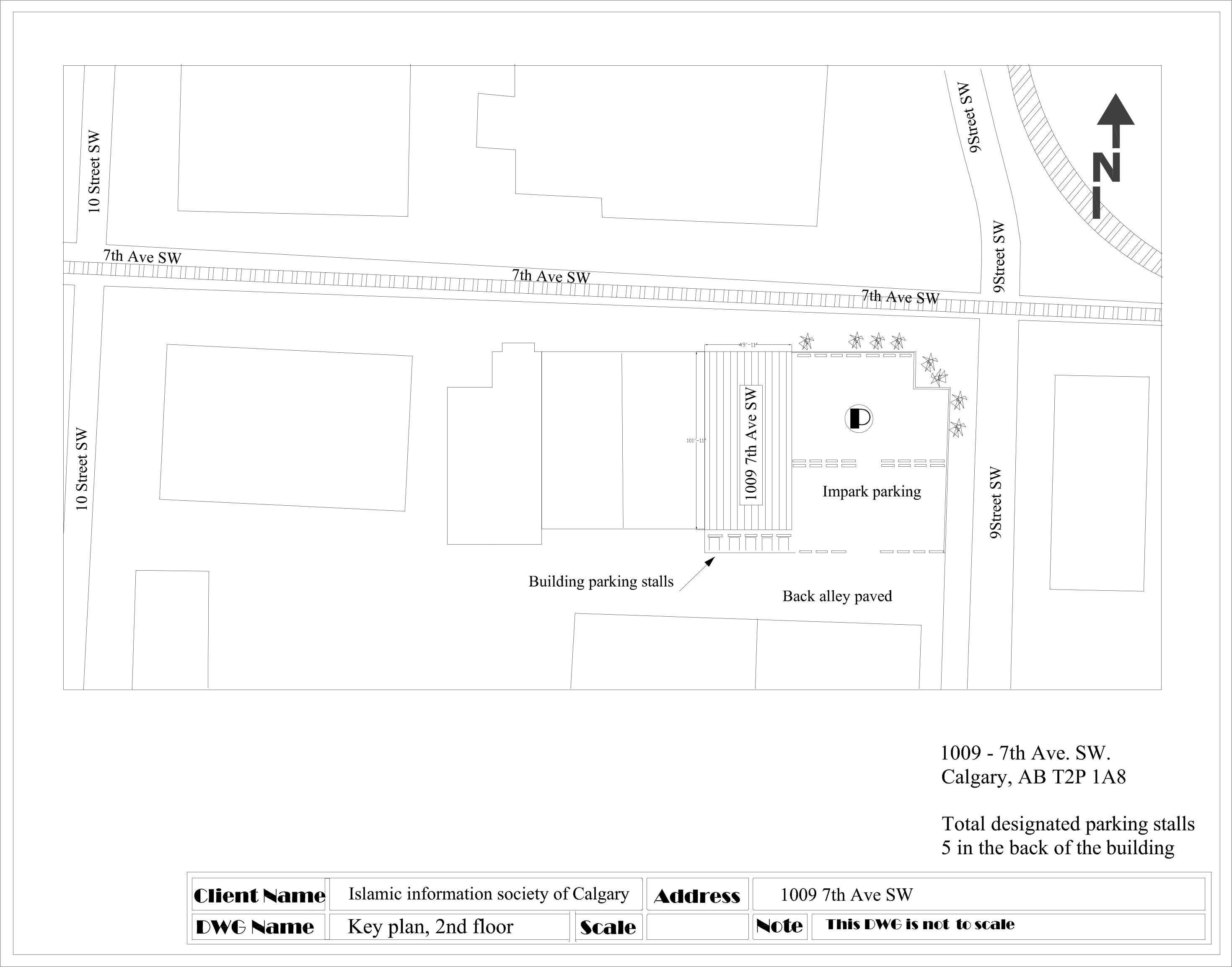 Key plan 1009 7th Ave SW