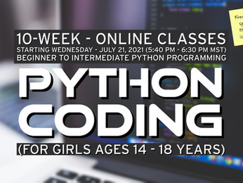 Python coding for girls (14-18 years old)