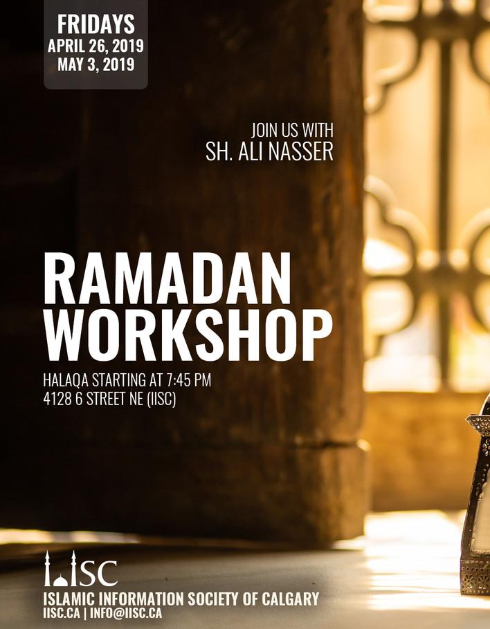 Ramadan Workshop - Join us with Sh Ali Nasser