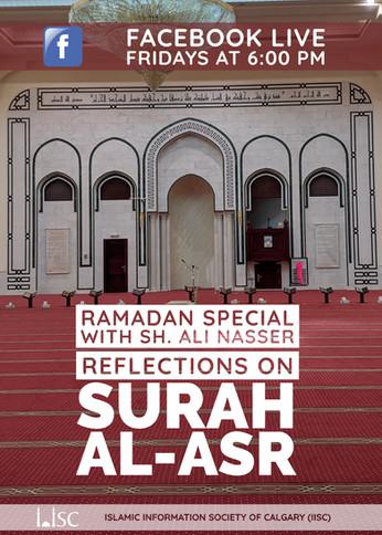 On Fridays during Ramadan - Reflections on Surah Al-Asr (Facebook Live with Sh Ali Nasser)