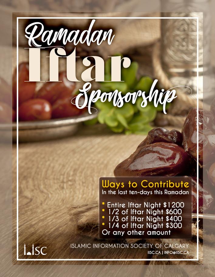Ramadan Iftar Sponsorship