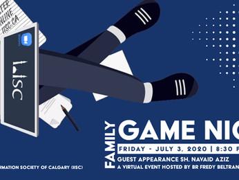 Virtual Family Game Night - Friday - July 3, 2020 at 8:30 PM