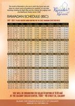 Ramadan Schedule (IISC) - 2016 (1437)