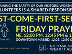 COVID-19 Targeted public health measures - Friday Prayers with further reduced capacity