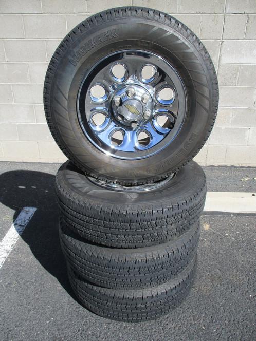 "Lug Pattern >> 17"" OEM Chrome Chevrolet Silverado Wheels & Hankook Tires   Home   uTire"