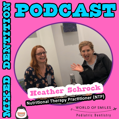 Heather Schrock with Dr. Stafford on the Mixed Dentition Podcast