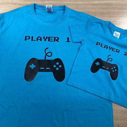 """Pack de 2 samarretes """"Player 1 i Player 2"""""""