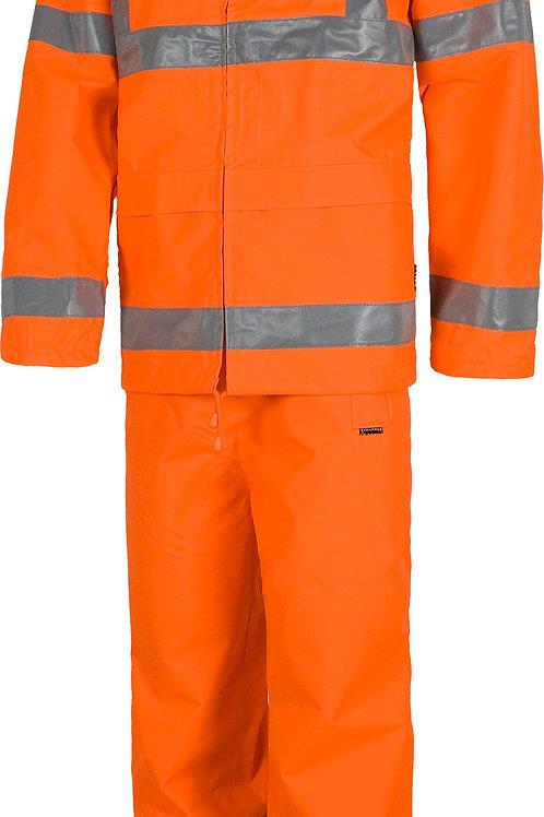 Pantalón y chaqueta alta visibilidad impermeable