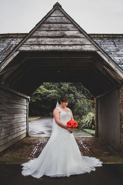 Bride in an archway