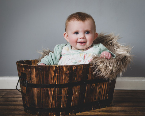 Baby in a planter