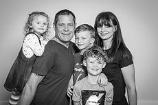 Black and white family group