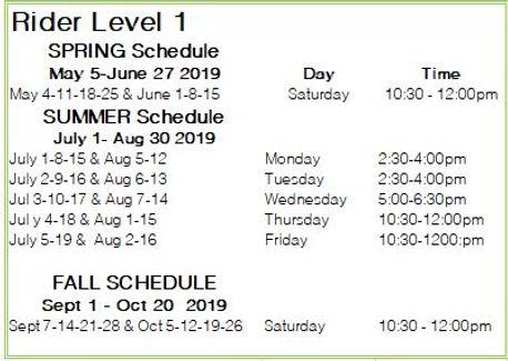 Rider Level 1 2019 schedule.JPG