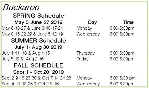 Buckaroo 2019 Schedule.JPG