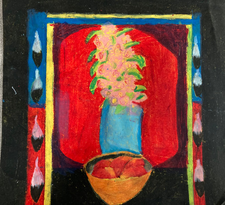 Sierra Daniels, Untitled (after Dale Auger), oil pastel, PACI: Gr. 9