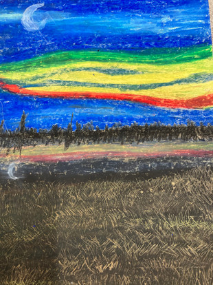 Jaelynn Dumont, Untitled, oil pastel, PACI: Gr. 10