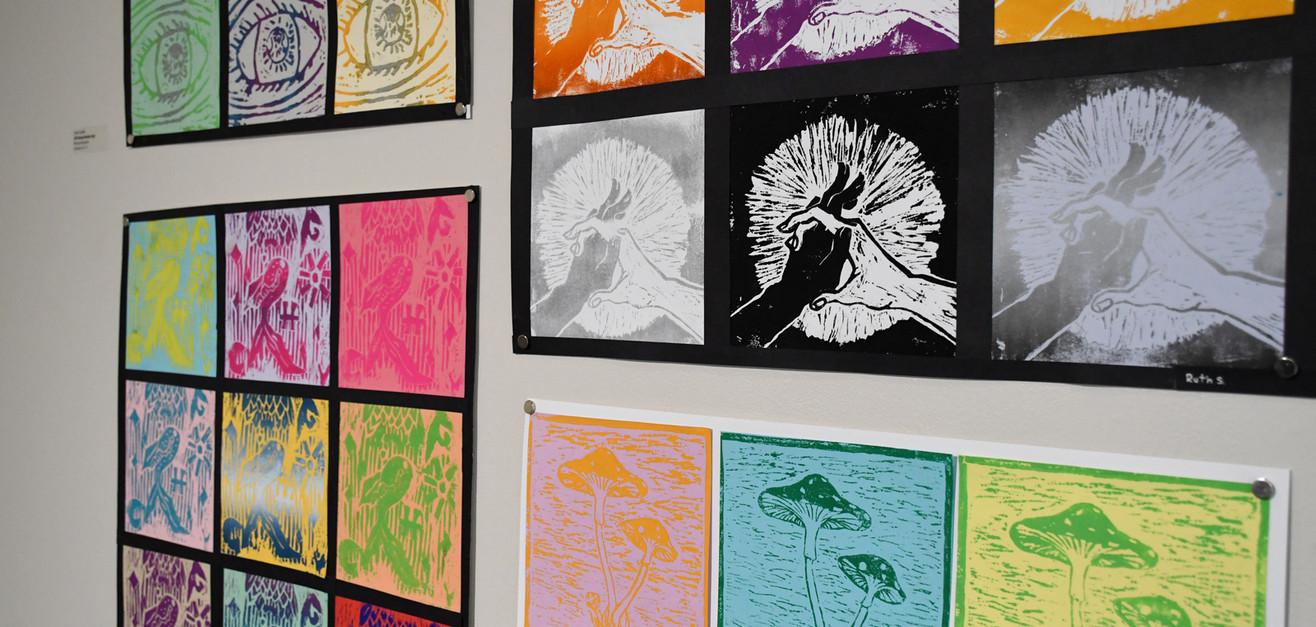 10th Annual High Schoo Juried Art Show, installation show, 2021