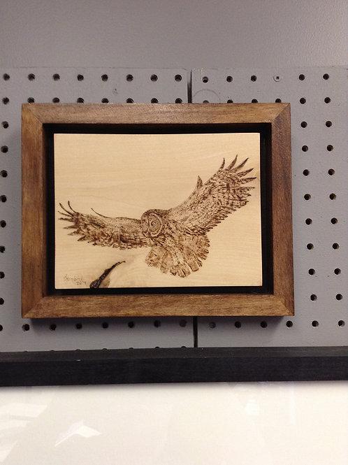 Flight - Grey Owl by Annette Henbid