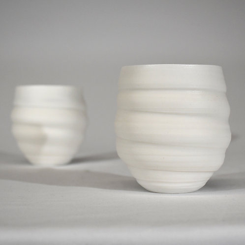 White Translucent Wine Cup by Gail Carlson