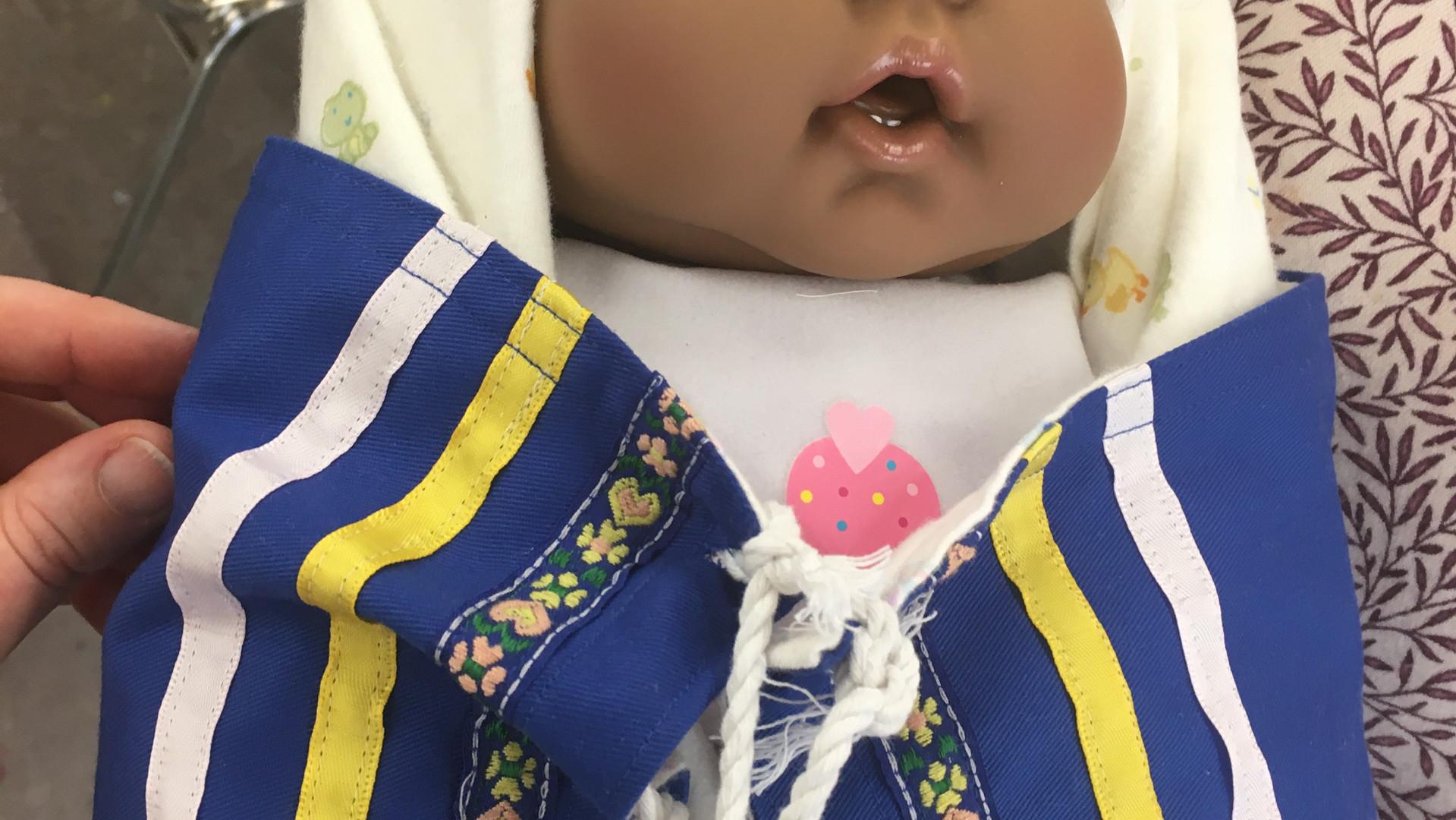 Baby Mackenzie, the Moss Bag baby model