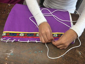 As participants work on their moss bags they weave their loving and nurturing thoughts into their project.