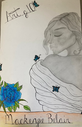 Mackenzie Belair, Untitled, coloured, pencil and ink, PACI: Gr. 10