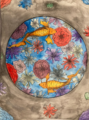 Mackenzie Belair, Untitled, watercolour and ink, PACI: Gr. 10