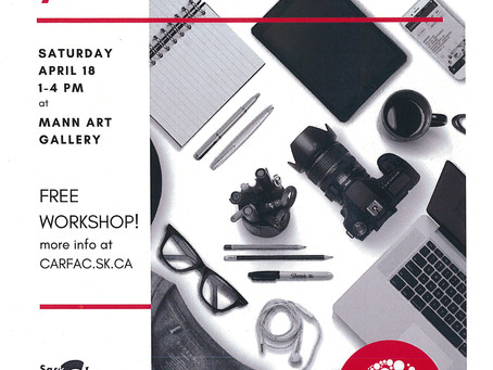 FREE Workshop! Photographing your Art with CARFAC SK
