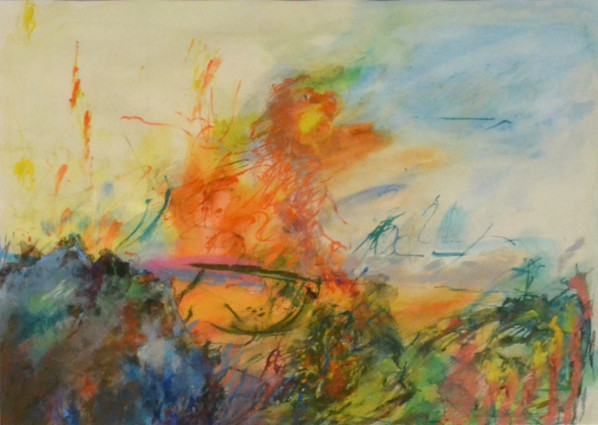 Untitled (Orange fire)